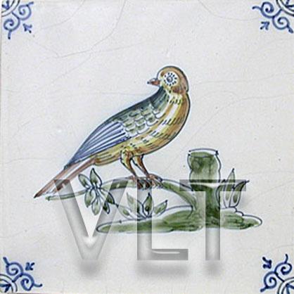 delft bird tiles in colors for kitchen backsplash home