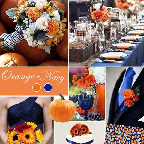 Were revealing the top fall wedding colors were crushing on live link in bio! #fall #wedding #autumn #fallwedding #orange #navy #pumpkin #bride #bridetobe #weddingcolors #colors #décor #weddingdecor #fallbrides via @angela4design
