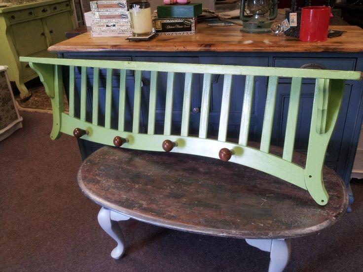 Reused Furniture repurpose crib into headboard ~ baby crib design inspiration