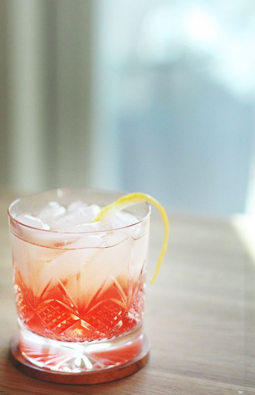 Cheers to Spring! Spring Fling: whiskey, sparkling raspberry juice, lemon juice, lime juice
