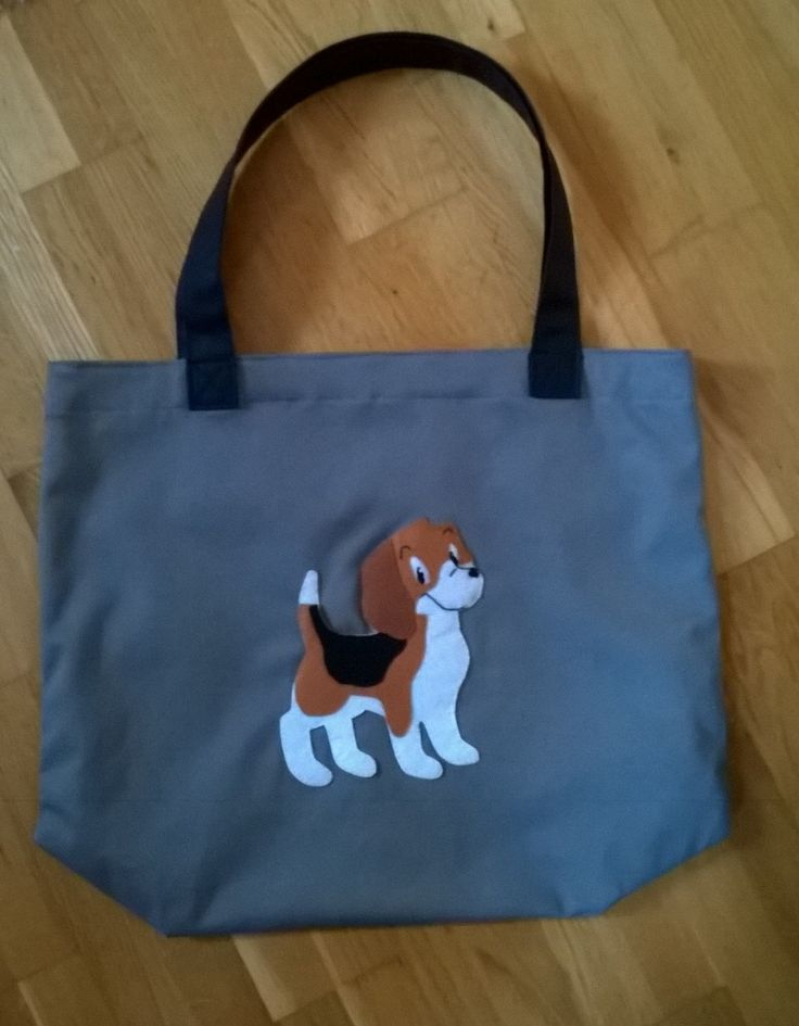 tote bag with puppy