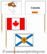 Canadian Provincial Flags (Pin Map Flags): 14 Pin Map Flags for Canadian Provincial Flags