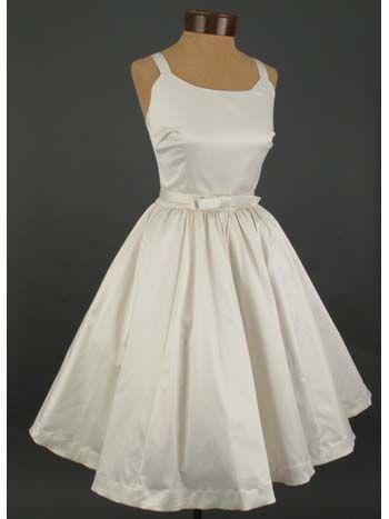 White Satin 50s Dress