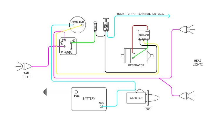 diagram of wiring on B Farmall | Later Wiring Diagram 6 volt battery ignition generator with