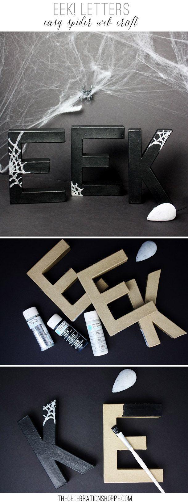 Easy Spider Web Craft & Halloween Entryway Decor: