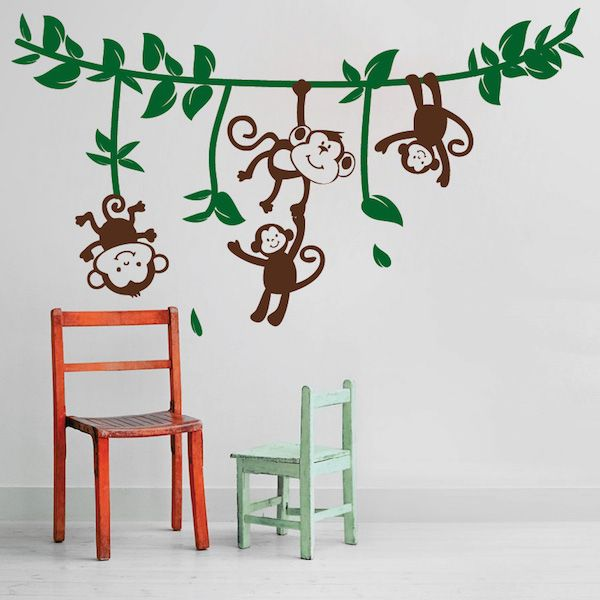 Silly Monkeys Wall Decals - Trendy Wall Designs