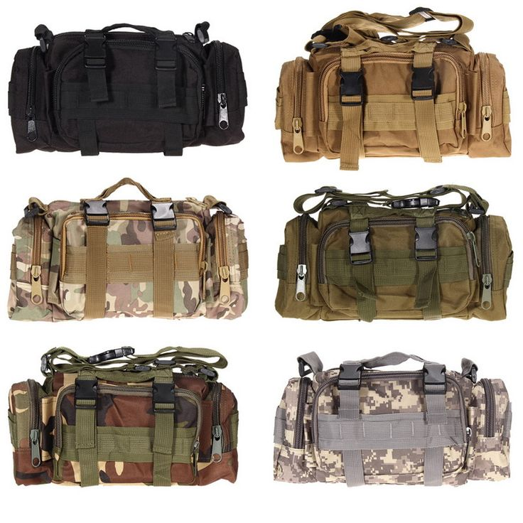 600D waterproof Oxford fabric Climbing Bags Outdoor Military Tactical Waist Pack Molle Camping Hiking Pouch Bag H1E1
