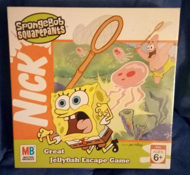 NEW SEALED & EXTREMELY RARE SpongeBob Squarepants GREAT JELLYFISH ESCAPE Game #MiltonBradley