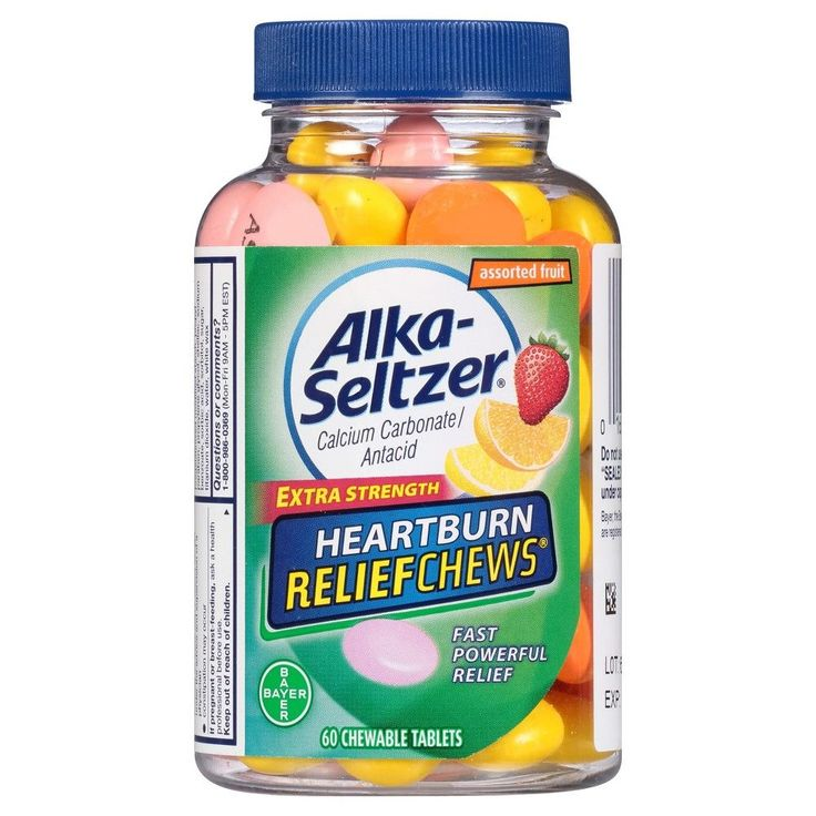 Alka Seltzer Heartburn Relief Assorted Fruit Chewable - 60ct