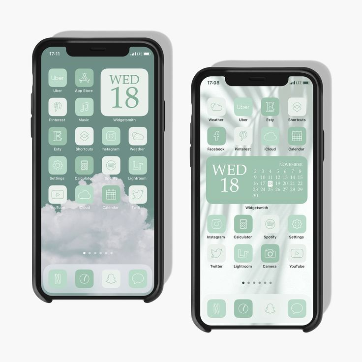 300 mint app icons ios 14 soft green icons green