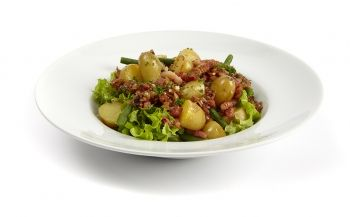 luikse salade met gele mini krieltjes - Pomuni