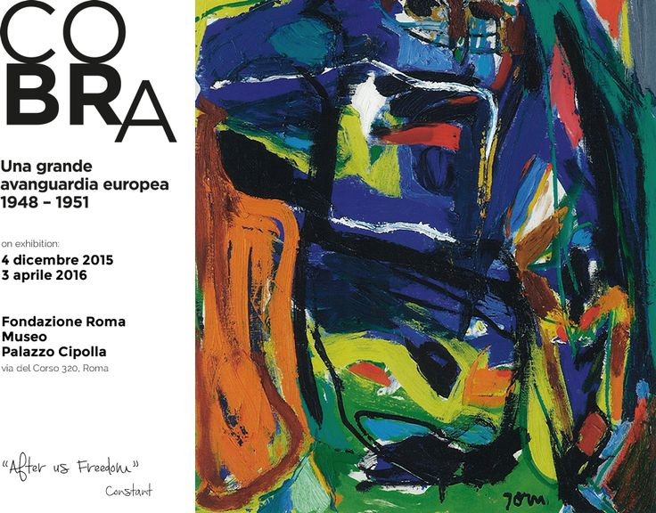 "Today we suggest you an exhibition full of colour and hope that you cannot miss opened last week in Rome ""Cobra, a great European avant-garde"", a movement created after the 2nd WW, in 1948, in Paris, with artists coming from Copenhagen, Brussels and Amsterdam.  http://www.mostracobraroma.it/ http://www.charmeholidays.com/en/cerca?l=rome&res=30"