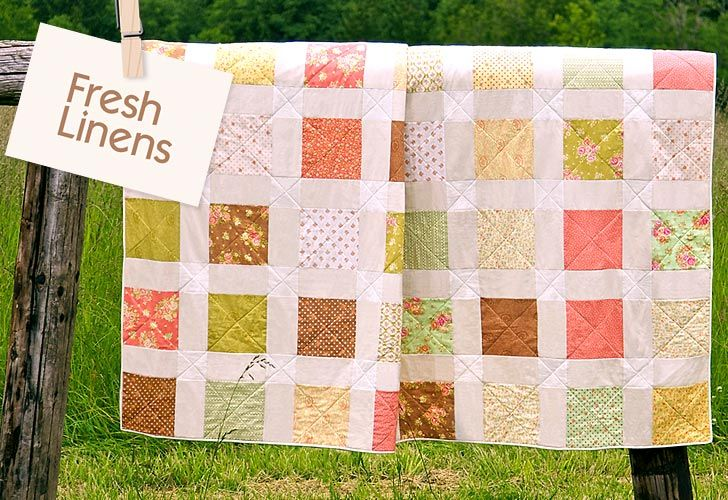 Easy Fat Quarter Queen Quilt.  Great directions.  pdf and print options, too.