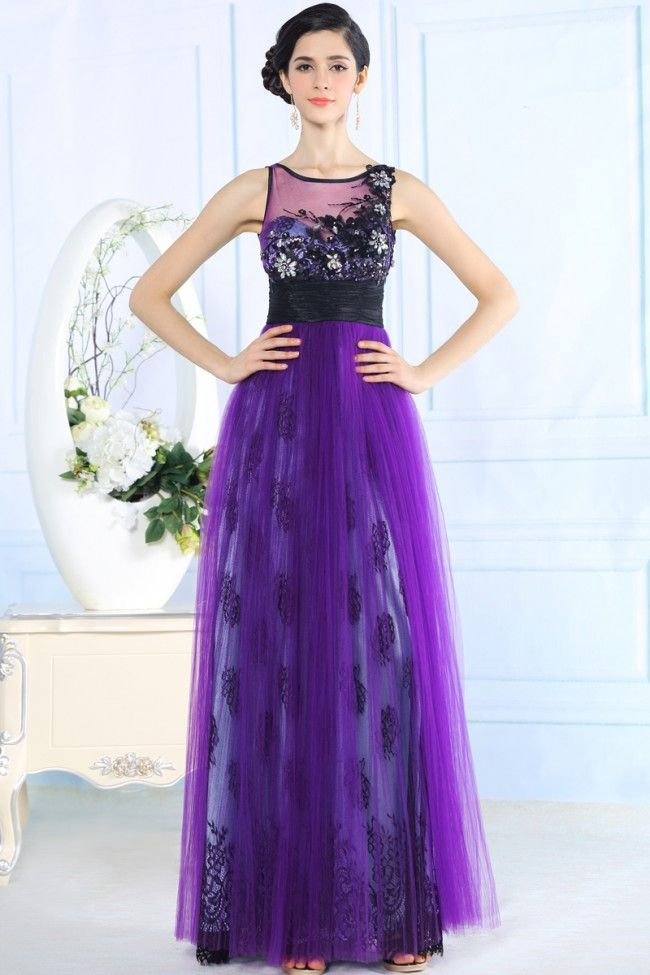 Celebrity Inspired A-Line Tulle Formal Dresses Prom Gown