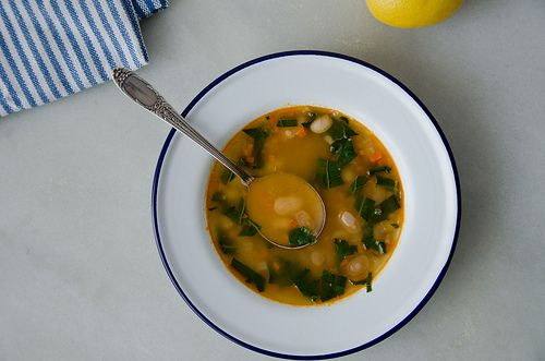 soup navy bean soup soup beans vegetarian soups preserved lemons kale ...