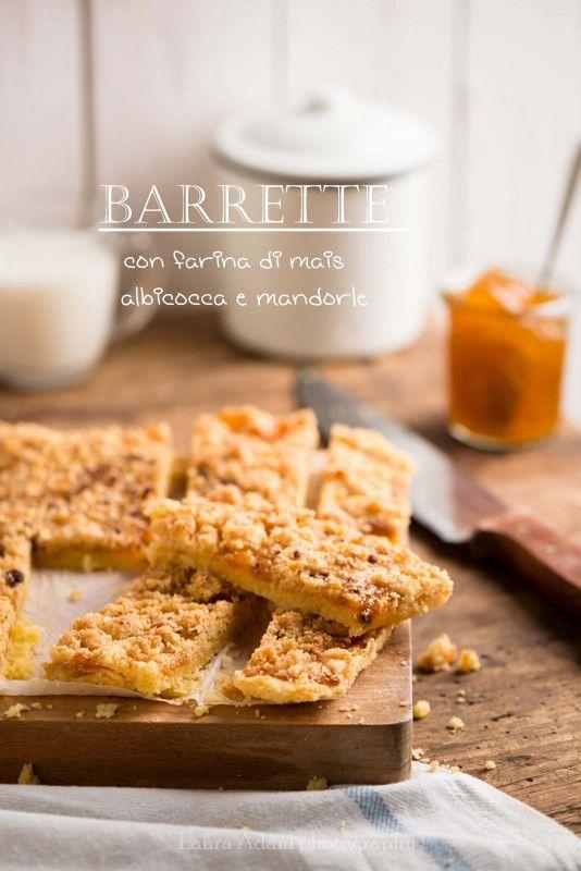 Barrette con farina di mais, albicocca e mandorle – Apricot and almond corn…
