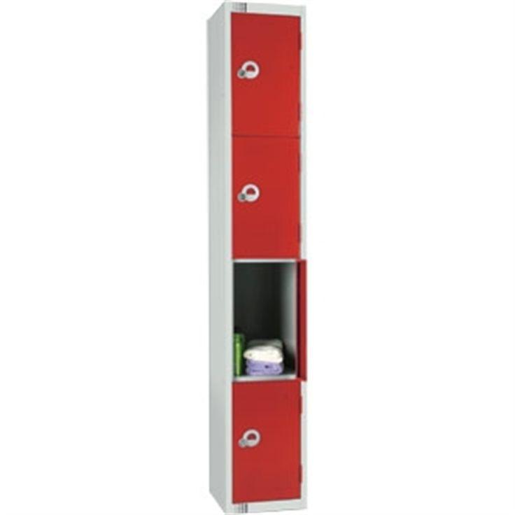 Four Door Locker with Sloping Top