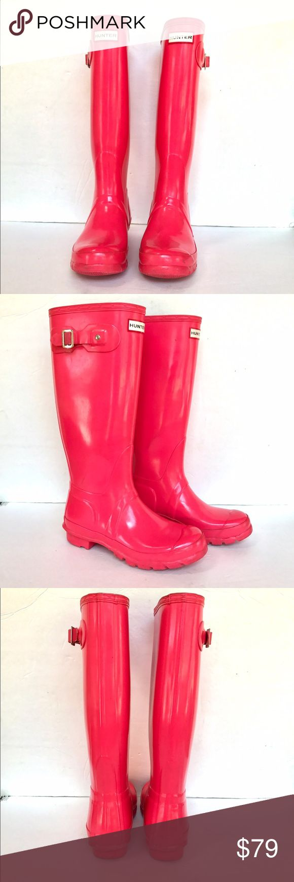 Hunter boots hot pink size 7 Hunter boots. Hot pink. Women's size 7. Normal scuffs here and there but overall very good condition. Hunter Boots Shoes Winter & Rain Boots