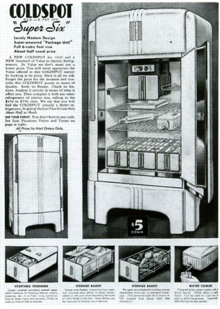 En 1934 Sears Roebuck amp Company Commande Raymond Loewy Le Design Du Rfrigrateur Coldspot