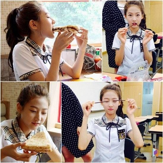 Kim Sae Ron shows her hearty appetite on the set of 'High School'   allkpop