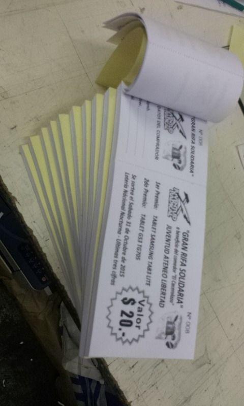 1000 Rifas Personalizadas C/diseño Simple Incluido - $ 480,00 en MercadoLibre