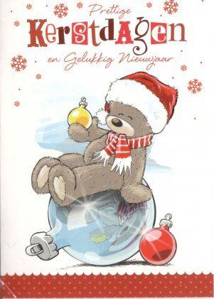Prettige kerstdagen en een gelukkig Nieuwjaar!  Kerstkaartjes met schattige beertjes