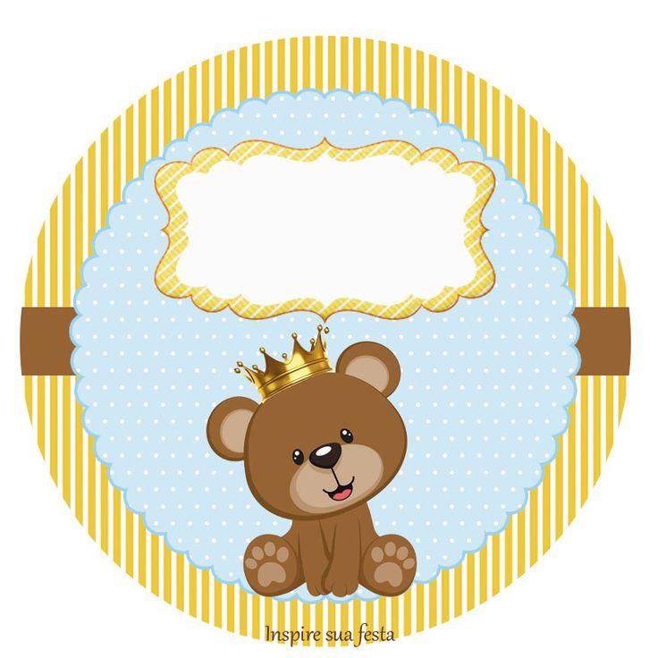 Novo kit no blog: Ursinho Rei ou Príncipe  http://inspiresuafesta.com/ursinho-rei-ou-principe-kit-digital-gratuito/