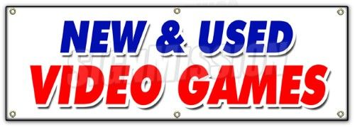 72 NEW AND Used Video Games Banner Sign theft minecraft mortal kombat sale