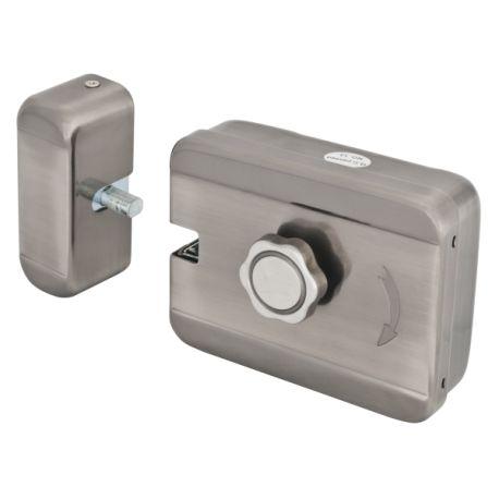 Yala electromagnetica SX-08E. CARACTERISTICILE YALEI ELECTROMAGNETICE APLICATA SX-08E Deschidere in exterior  Deschidere electrica (12Vcc) sau manuala Buton in interior/ Butuc cu chei in exterior Material: inox