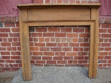 Early Antique Primitive Grain Painted Fireplace Mantel 1 of 3 | eBay