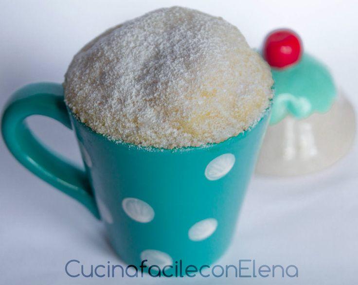 Torta al microonde in tazza | Versione bianca, tipo torta margherita