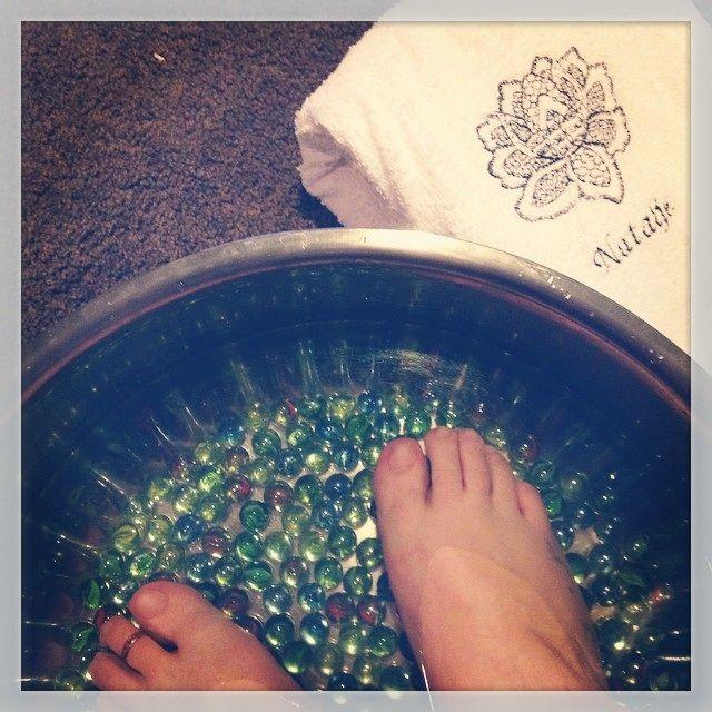 Relaxing foot baths