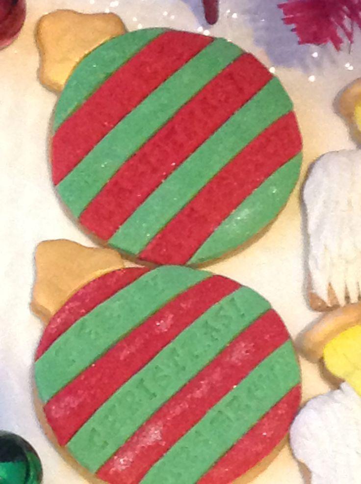 Personalised sugar cookie baubles
