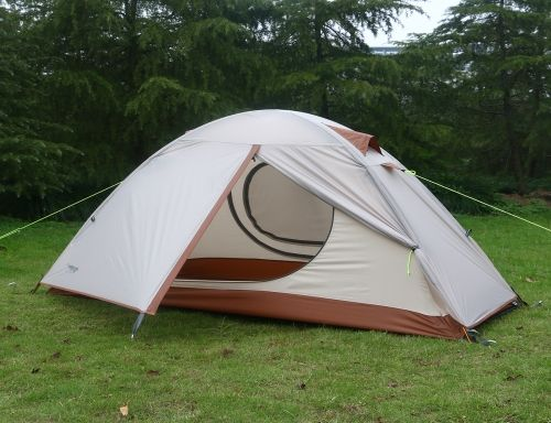 luxe tempo ultralight single 1 person tent for camping with footprint highend silnylon backpacking tent for years use 2 doors 2 vestibules white