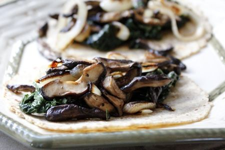 Green Chard & Shiitake Tacos with Epazote