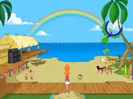 Resultado de imagen de phineas y ferb paisajes de la playa