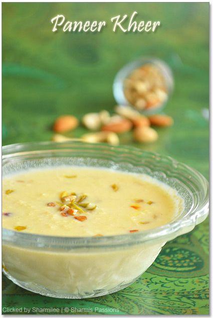 Paneer Kheer Recipe Indian Dessert