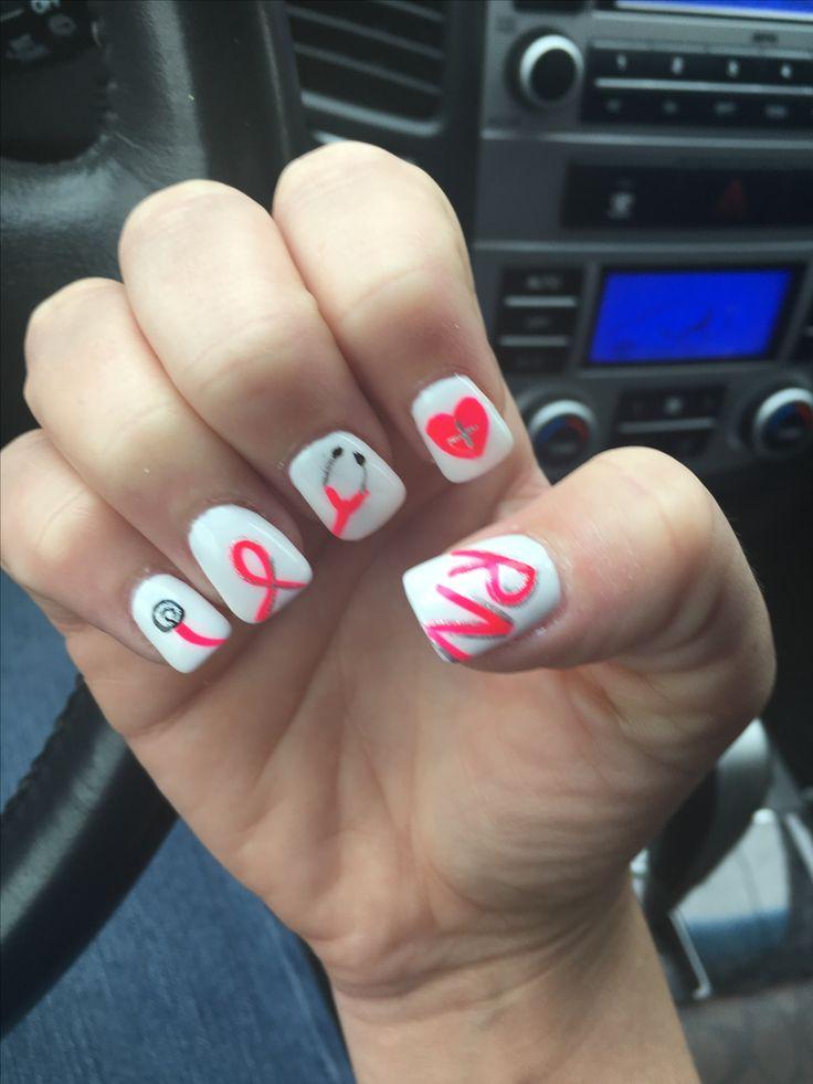 Best 25 nurse nails ideas on pinterest gel nails shape nail nurse nails rn school nail art designs nail design creative nails school essentials nursing graduation graduation caps nurse hairstyles prinsesfo Image collections