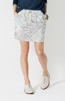 Elk Accessories Linear Print Skirt