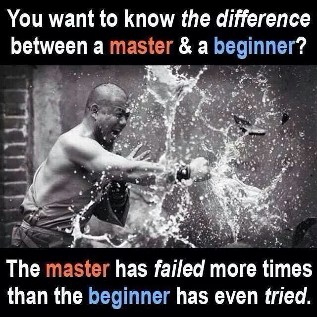 Aim to be a master at what's important to you