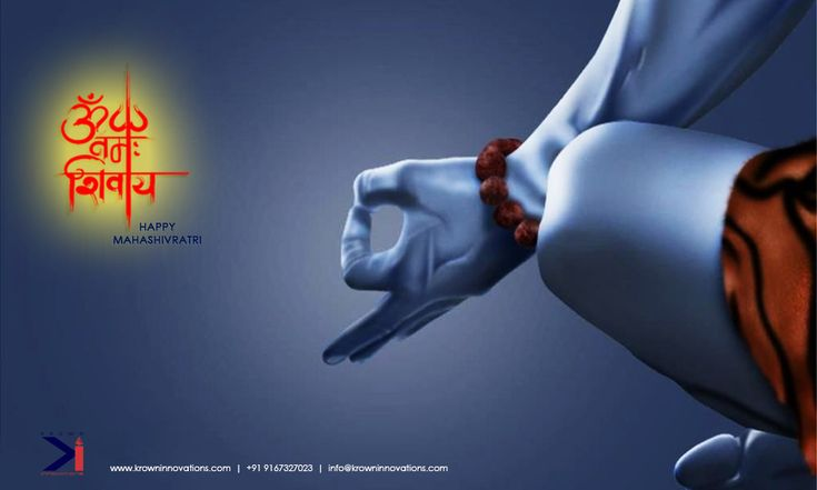 On the occasion of Mahashivratri we pray may Lord Shiva's blessings be with all of you!  Team Krown.