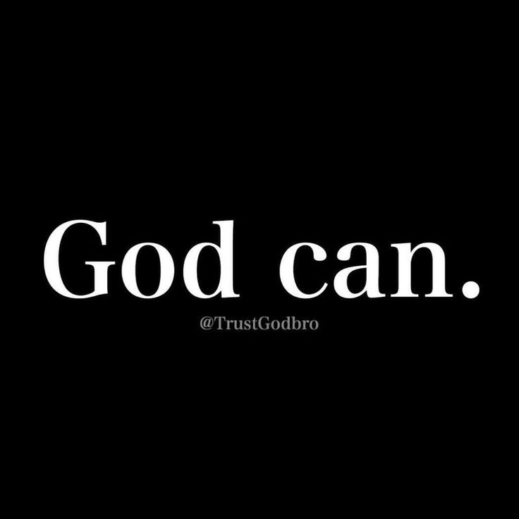 God can...