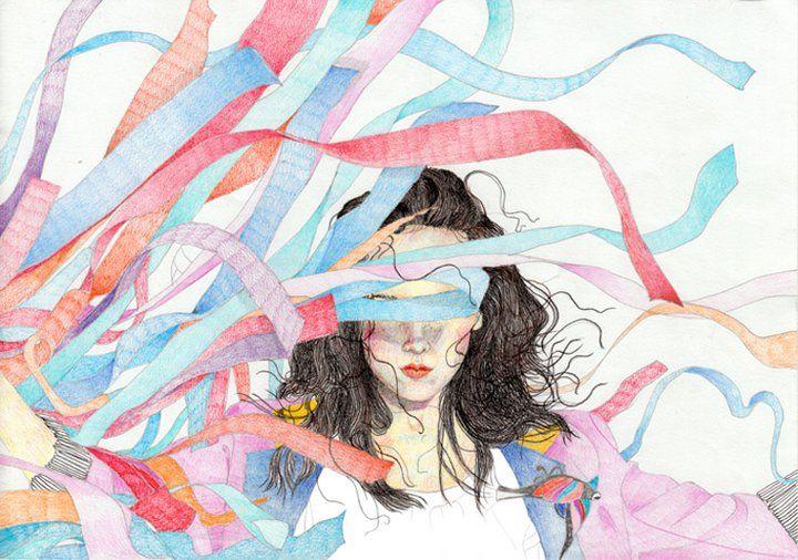 Illustration for music album of polish singer MONIKA BRODKA, 2010, by AROBAL