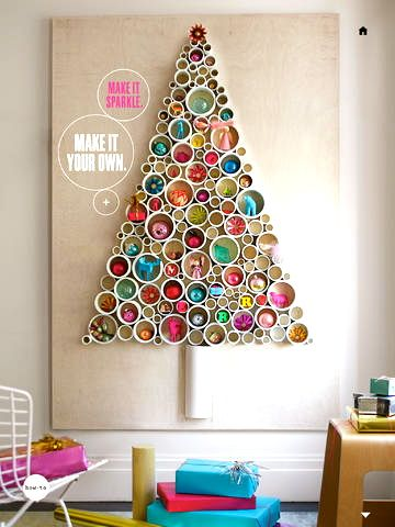 PVC pipe Christmas tree from the December 2013 Martha Stewart Living…must make!