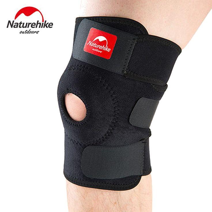 Naturehike joelheira ajustável elastic suporte knee brace patella knee pads buraco joelheira esportes cinta guarda de segurança para a execução de