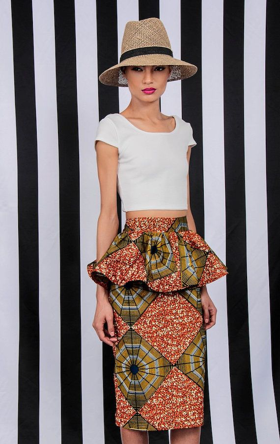 NEW The Kait Peplum Skirt by DemestiksNewYork on Etsy, $95.00