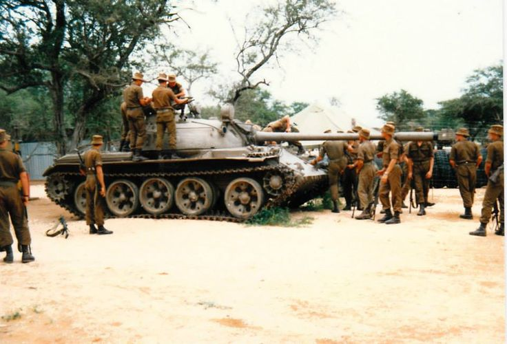 Angolan T 55 captured by South African army