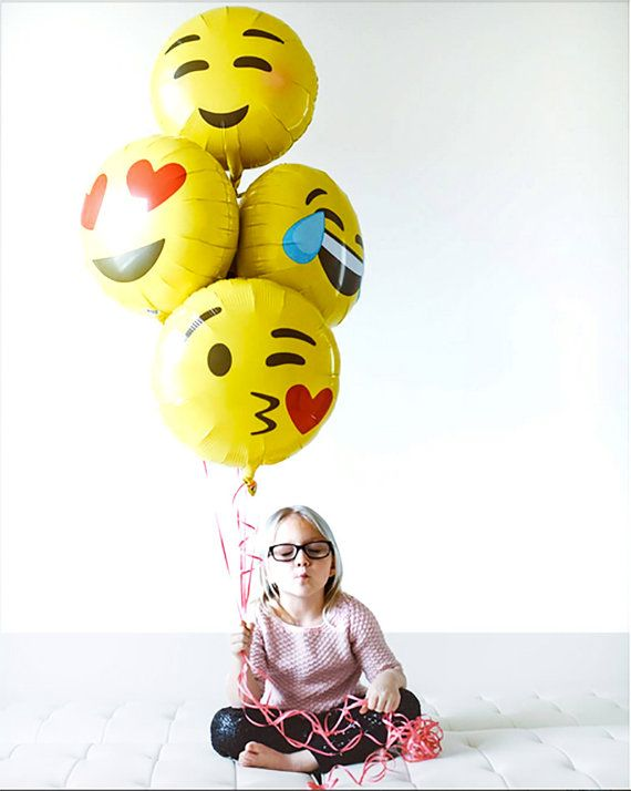 Emoji Party Balloons, Blushing, Laughing, Crying, Kissing, Love, Heart Eyes, Emoticon, Instagram Party, Facebook Emoji, Party Supplies, LOL