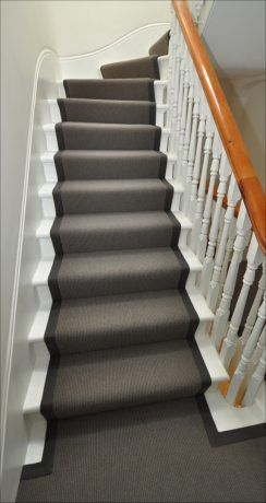 Striking stair runner, change hand banner to espresso maybe, flower