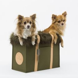 Lola Designer Dog Carrier (Military Green)
